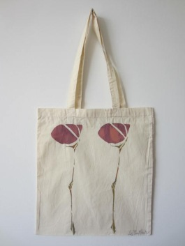 Scottish Flower - Hand-Printed Bag, Cream I