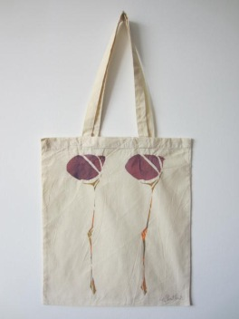 Scottish Flower - Hand-Printed Bag, Cream IV