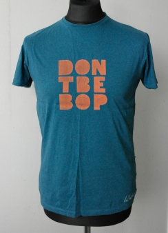 Orange on Blue T-shirt — Sizes M & L