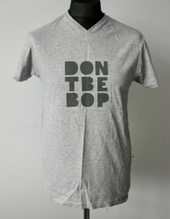 Dark Grey on Light Grey T-shirt — Sizes M & L