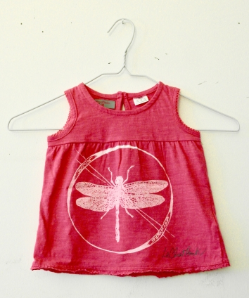 'Begin Anywhere' Design — Baby Girl Dress — 9-12 month old — White on Pink Dress & Pink on White Dress.